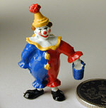 Hand Painted Clown with Bucket