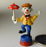 Hand Painted Clown with Umbrella